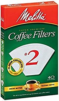 Melitta Cone Coffee Filters No. 2 White Pack of 2 (80 Filters Total)