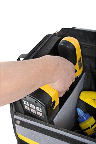 Stanley Werkzeugkoffer / Werkzeugtasche mit Rollen, (44.5x25.5x42cm, wasserfester Kunststoffboden, Trolley aus strapazierfähigem und robustem 600x600 Denier Nylon, viele Verstaumöglichkeiten) 1-97-515 - 6