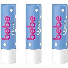 bebe Lippenpflegestift Classic / Feuchtigkeitsspendende Lippenpflege gegen trockene Lippen / 3 x 4,9g