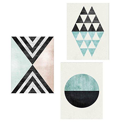 non-brand MagiDeal 3pcs Pintura Decorativa Geométrica Abstracta Moderna Arte Pared Estilo Nórdico - 30x40cm