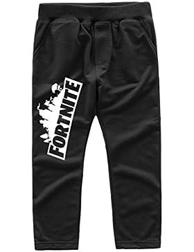 EMILYLE Unisex Fnite Logo del Juego Impresa Pantalones para Niños.