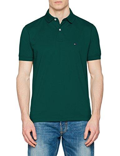 Tommy Hilfiger Herren Poloshirt Tommy Regular Polo, Grün (Forest Biome 301), Medium (Grün Herbst Shirt)
