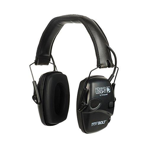 Howard Leight Impact Sport Bolt Digital Electronic Earmuffs, Black