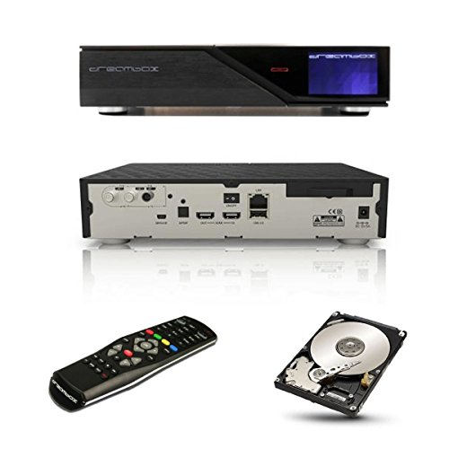 Dreambox DM 900 Ultra HD 4K E2 Linux Combo Receiver 2x DVB-S2X 1x DVB-C/T2 Twin Tuner Sat Kabel DVB-T T2 + 2 TB Festplatte