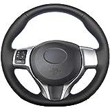 ZAYYL لسيارة Toyota Yaris 2011-2020 Verso S 2010-2017 Vitz 2011-2019 Ractis 2010-2016، غطاء عجلة القيادة مصنوع من الجلد الصنا