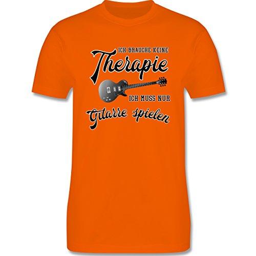 Instrumente - Ich brauche keine Therapie ich muss nur Gitarre spielen - Herren Premium T-Shirt Orange