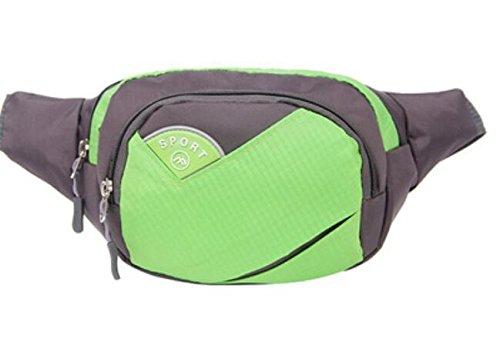 ZYT Multifunktionale Handytasche Taschen Sport Männer und Frauen Reiten ihr Arm. wasserdichtem Nylon-Hüfttasche Green