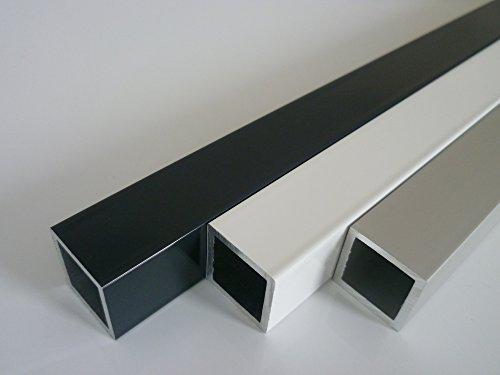 B&T Metall Aluminium Vierkantrohr pulverbeschichtet 20 x 20 x 2 mm ANTHRAZIT RAL 7016 Länge ca. 2 mtr. (2000 mm +0/- 3 mm)