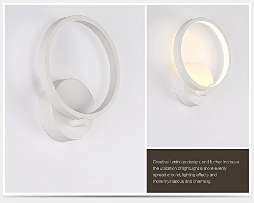 Maxmer lampada da parete elegante a led w stile moderno applique