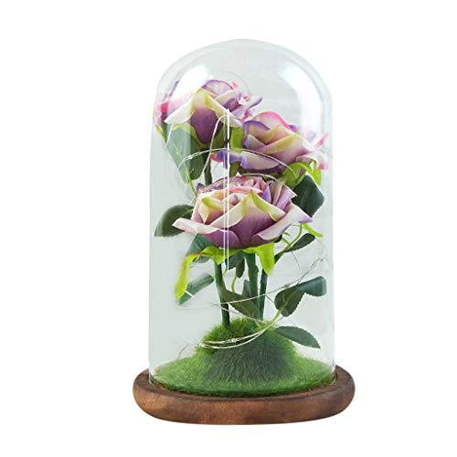 TDFGCR Muttertags-Romantisches Glas Rose Decoration Home Furnishing Mehrfarben