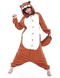 Kigurumi Pyjamas Erwachsene Unisex Animal Cosplay Overall Pajamas Anime Schlafanzug Jumpsuits Spielanzug Kostüme