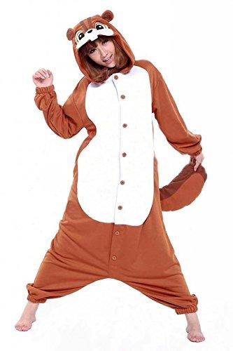 Venaster Jumpsuits Cosplay Pyjamas Eichhörnchen Erwachsene Unisex Animal Cosplay Overall Pajamas Anime Schlafanzug Spielanzug Kostüme