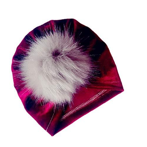 Chunyang Kinder Velvet Indian Hut-Baby-Mädchen Junge Haarknäuel Fotografie Cap Herbst-Winter-warme Mütze - Hut Mädchen Indian Für