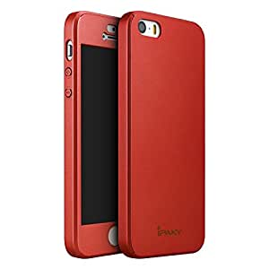 Premium High Quality 360 Protective Body Back and Front Case Cover for Apple iPhone 5 - Red