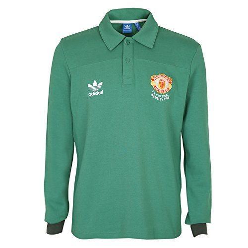 Manchester United FC Official Gift Mens Adidas 1985 Retro Goalkeeper Shirt XS