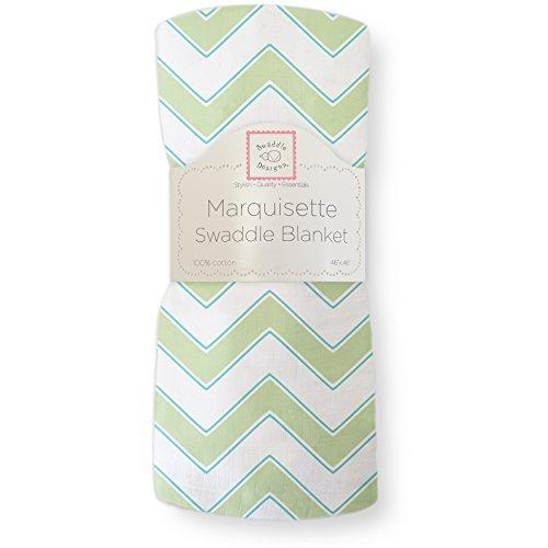 SwaddleDesigns Pucktuch aus Marquisette, Premium Baumwollmusselin, Pfeilförmiges Muster, Kiwi