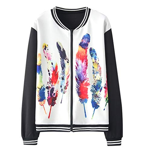 Dasongff Damen Sweatjacke Ladies College Sweat Jacket Baseball Jacke Mädchen Bunt Drucken Sweatshirt übergangsjacke Fahsion Sportswear -