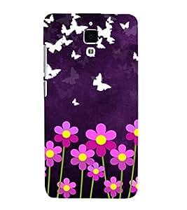 printtech Butterfly Flowers Back Case Cover for Xiaomi Redmi Mi4::Xiaomi Mi 4