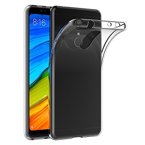 AICEK Funda Xiaomi Redmi 5, Transparente Silicona Fundas para Xiaomi Redmi 5 Carcasa Silicona Funda Case (5,7 Pulgadas)