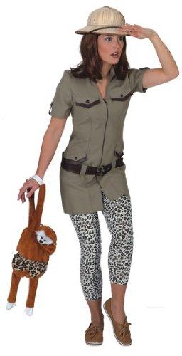 Damen Kostüm Safari Kleid zu Karneval Fasching in Größe (Kostüm Safari)