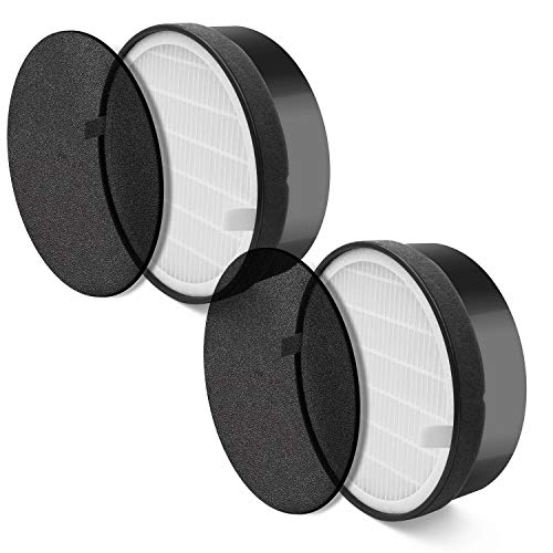 TB® Replacement Levoit Air Purifier LV-H132 Filter , True HEPA and Activated Carbon Filters Set, LV-H132-RF ( Pack of 2 ) - Carbon Air Filter