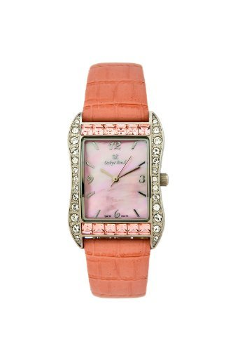 OSKAR EMIL ROCHELLE PINK SWAROVSKI SET MOTHER OF PEARL LADIES WATCH