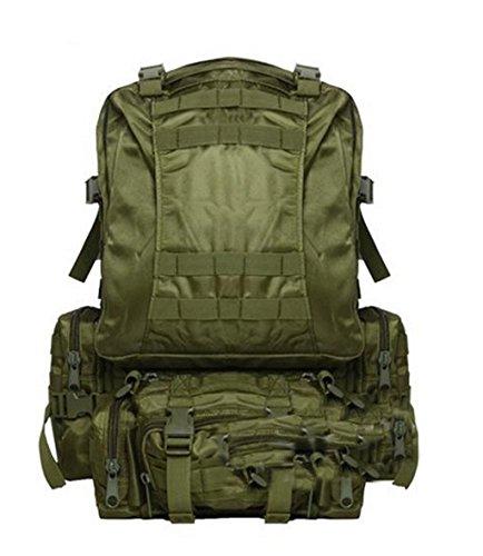 MM-Pacchetto di combinazione zaino/spalla tattica retro-Zaini/outsourcing/colore Camo , army green
