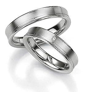 CORE by Schumann Design Trauringe/Eheringe aus 925 Silber mit echten Diamanten GRATIS Testringservice & Gravur 19005245