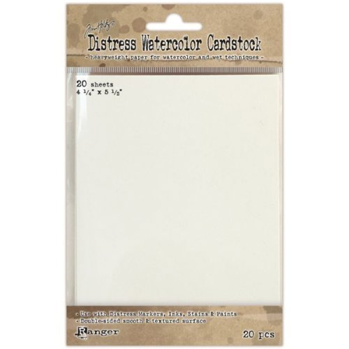 Ranger Distress Watercolor Karton, 4,25von 14cm, 20er Pack by - Distress Papier