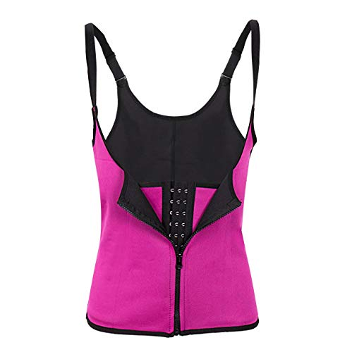 HOYO Weste Taille Trainer Frauen Körper Abnehmen Trimmer Korsett Training Thermo Push Up Trainer S Rose Rot