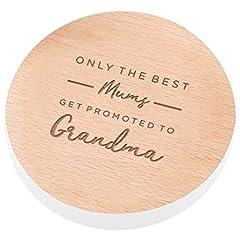 Idea Regalo - Dust and Things Solo i Migliori Mums Get Promoted to Grandma Ardesia sottobicchiere-Gift for Grandma-Nonna sottobicchiere per Festa della Mamma