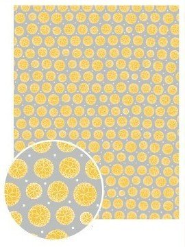 Papier patch GluePatch - Pivoine jaune - GluePatch