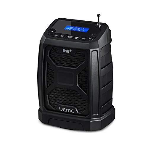 UEME Baustellenradio Robustes DAB+ FM Radio mit Bluetooth & Aux Anschluss DB-326 (Schwarz)