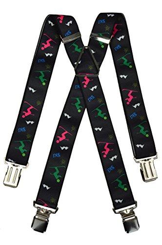Olata Bretelles Ski pour Salopettes avec Ski Motif. Adulte, X Modèle (Métal)