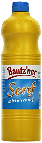BAUTZ\'NER Mittelscharfer Senf, 4er Pack (4 x 1 l) ...