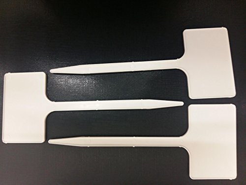 10 x Yuzet T étiquettes Plastique Blanc marqueurs Pot de jardin Piquet Chambre d'enfant de graines