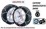 RICAMBIITALIA2017 Catene da Neve 9 MM OMOLOGATE V5117 Gruppo 70