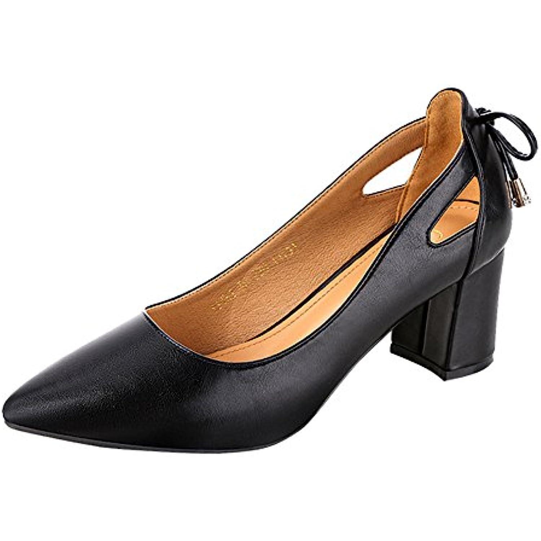 ❤Mode Femmes  s❤ Noir Beige Lolittas Pointu Toe Toe Toe Cheville Talons Hauts Party Jobs Chaussures Simples - B07FQML2DF - 6996a9