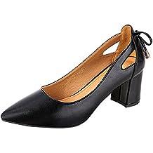 Darringls_Zapatos para Mujer,Zapatillas Tacón Grueso Puntiagudo con un Solo Zapato de Boca ...