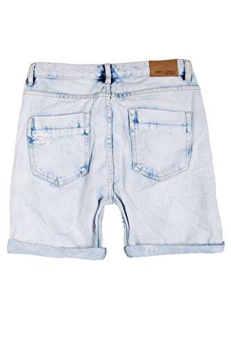 Jeans Kurze Hose Herren Shorts Bermuda Hellblau Denim Zerissen Destroyed Vintage Chino Joggjeans W29-W38 Hellblau