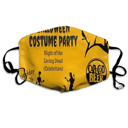 SDGSS Mund Maske,Halloween Costume Party Warm Unisex Fashion Warm Anti-Dust Washable Reusable Mund Maske