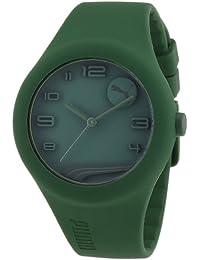Esprit A.PU103001007 - Reloj analógico de cuarzo para hombre con correa de silicona, color verde