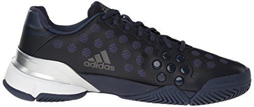 Adidas Performance Barricade 2015 Chaussure de tennis, Bright Yellow / noir / blanc, 6,5 M Us Midnight Grey/Metallic Grey/Silver