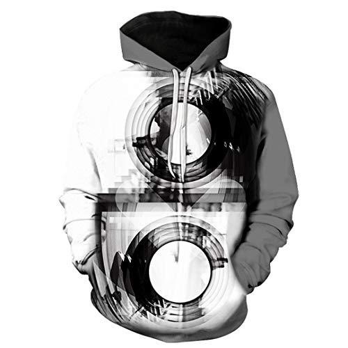 Mode 3D gedruckt Spirale M?nner/Frauen lustige Hip Hop Sweatshirts Blue S