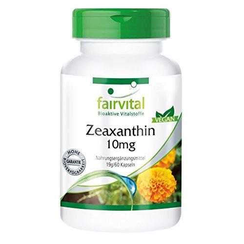 Zeaxantina cápsulas 10mg - VEGANO - Altamente dosificado - 60 Cápsulas - ¡Calidad Alemana garantizada!