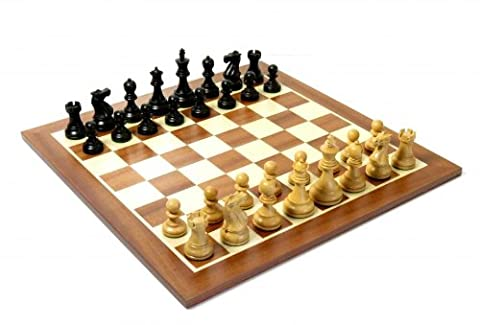 Pro Club Series Chess Pieces with Mahogany Chess Board & Storage Box