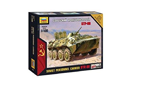 Zvezda 500787401 - 1:100 BTR-80 Russischer gepanzerter Verkehr