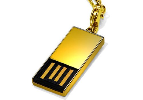 Super Talent STU32GPCG Pico-C 32GB USB-Stick USB 2.0, gold
