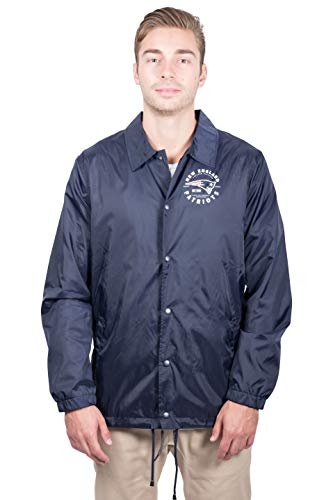Ultra Game NFL New England Patriots Men's Coach Jacket, Navy, X-Large