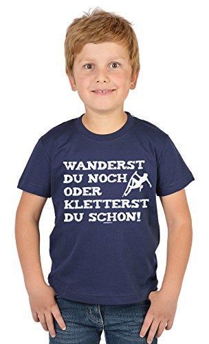 Bergesteiger Sprüche Kinder T-Shirt Wander Shirt : Wanderst du noch oder kletterst du Schon? - Kindershirt Klettern Berge T-Shirt Gr: XL= 158-164 -